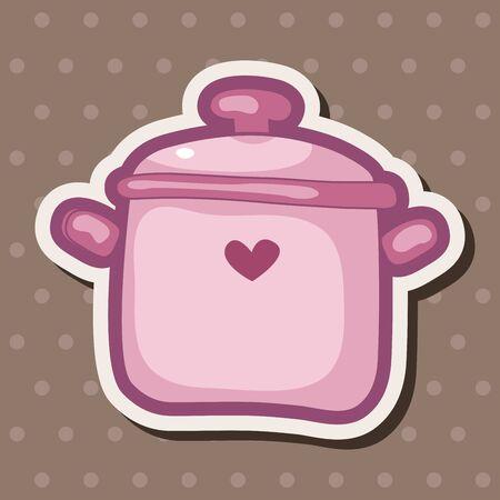 kitchenware: kitchenware pot theme elements