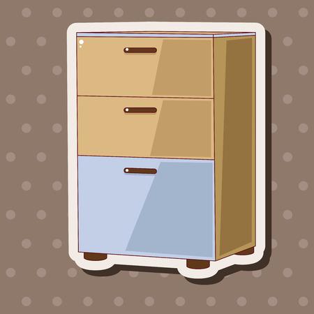 éléments de mobilier à thème de l'armoire