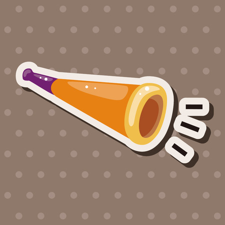 party horn blower: birthday horn theme elements