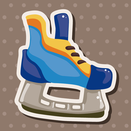 hockey equipment: hockey equipment theme elements Illustration