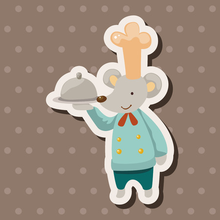 cartoon animal: animal mouse chef cartoon theme elements Illustration