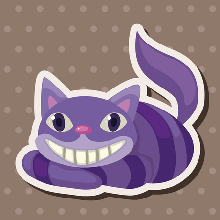 cheshire cat: alice in wonderland theme elements