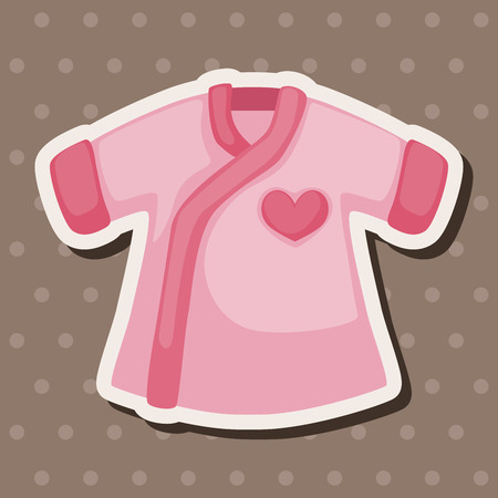 Baby clothes theme elements Illustration