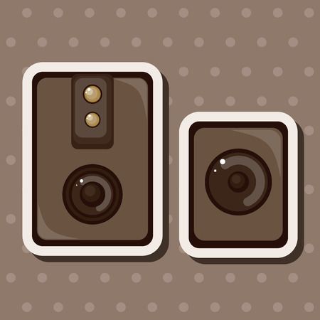 acoustic systems: stereo speakers theme elements Illustration