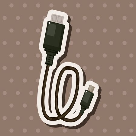 adapter: Adapter cable theme elements Illustration