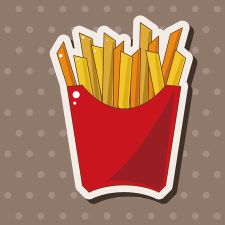 fried foods: Fried foods theme french fries elements