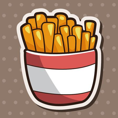 fritto: Cibi fritti tema patatine fritte elementi