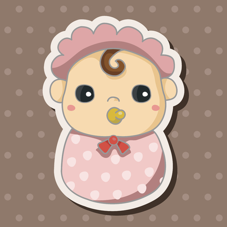 baby clothes: person character baby theme elements
