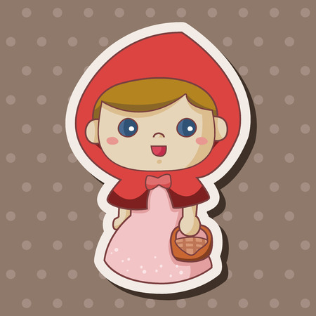 little red riding hood: fairytale princess theme elements Illustration