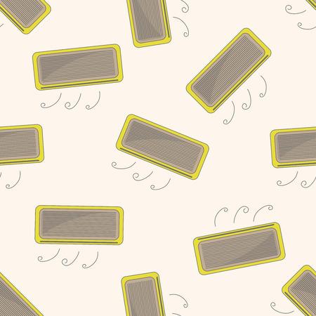 air conditioner: air conditioner , cartoon seamless pattern background