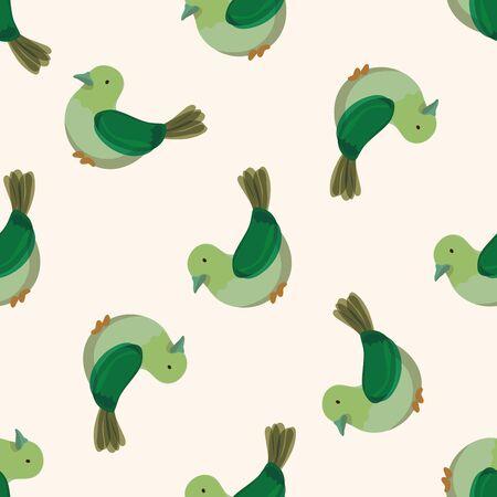 bird cartoon design , cartoon seamless pattern background Vector