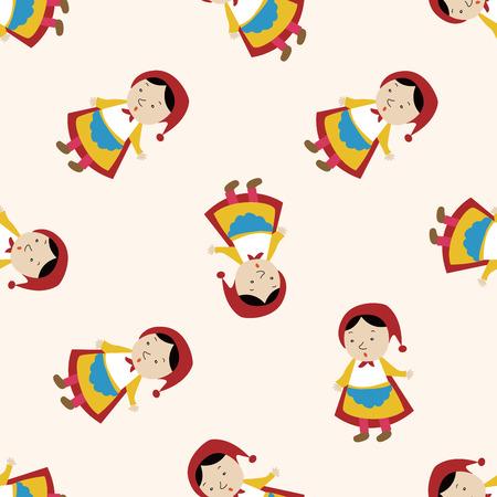 fairytale princess , cartoon seamless pattern background Vector