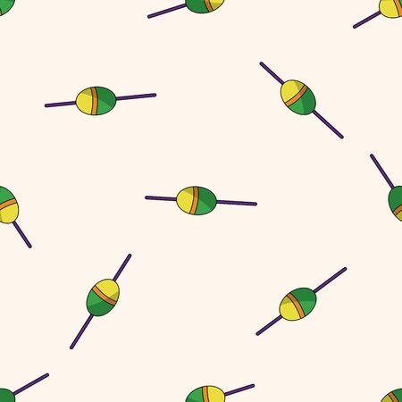 rods: Fishing rods , cartoon seamless pattern background