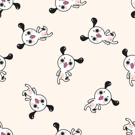 Animal del dibujo animado del perro, dibujos animados patrón de fondo sin fisuras Foto de archivo - 39460524