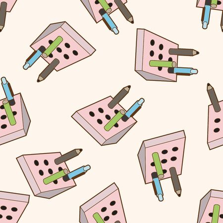 pen holder: stationary pen holder , cartoon seamless pattern background