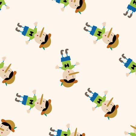 pinocchio: Pinocchio , cartoon seamless pattern background