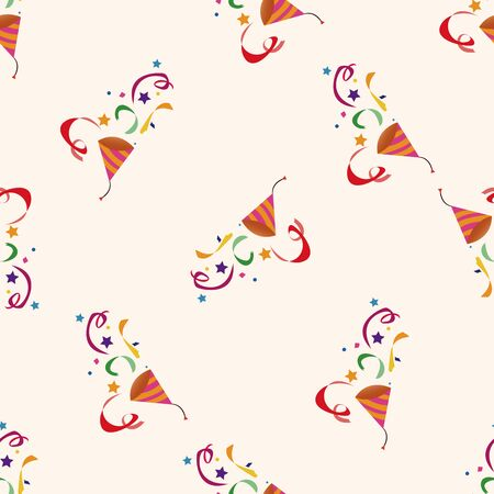 party horn blower: party horn , cartoon seamless pattern background Illustration
