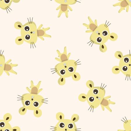Animal del dibujo animado del ratón, dibujos animados patrón de fondo sin fisuras Foto de archivo - 39460965