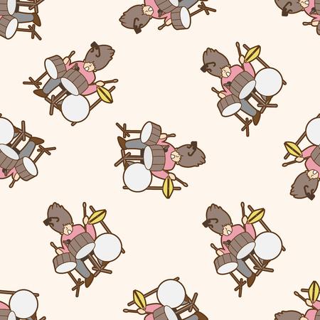 instrumentalist: Musicians , cartoon seamless pattern background