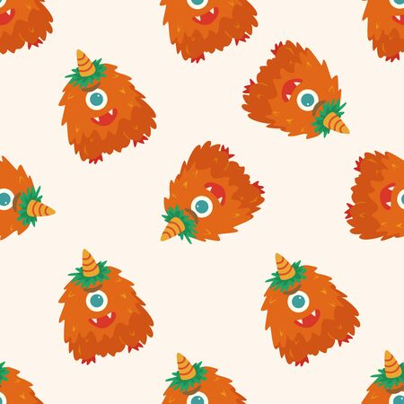 ugly mouth: monster cartoon vecotr,, cartoon seamless pattern background