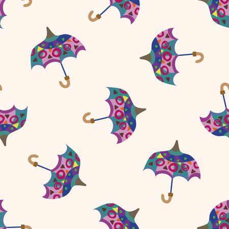 fall protection: Umbrella theme,emets , cartoon seamless pattern background Illustration