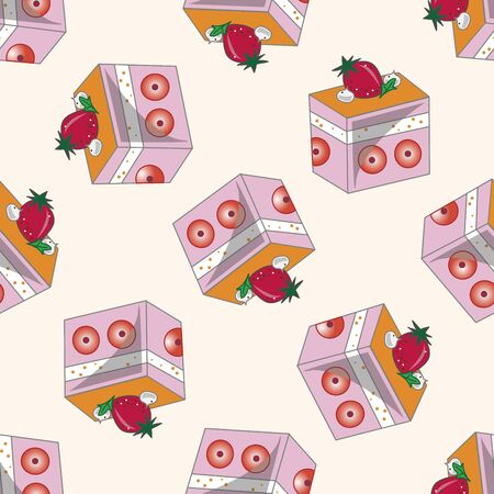 decorating cake 10, cartoon seamless pattern background Vector