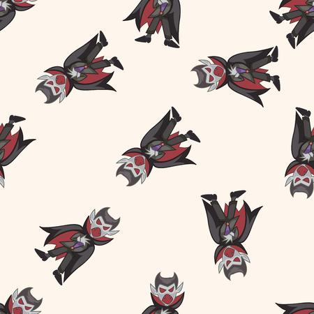 pattern monster: bizarre monster vampire , cartoon seamless pattern background Illustration
