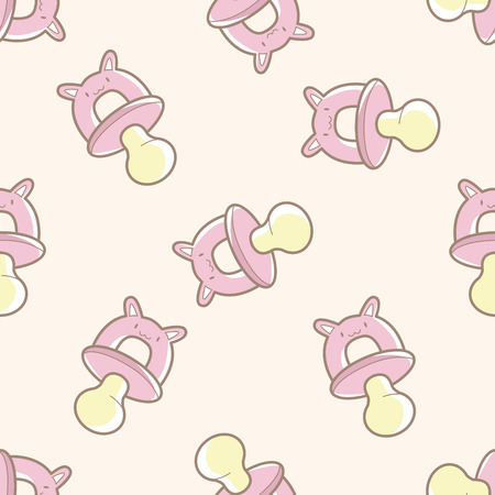pacifiers: Baby pacifiers , cartoon seamless pattern background Illustration