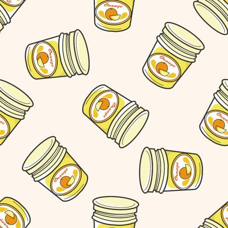 marmalade: orange jam , cartoon seamless pattern background