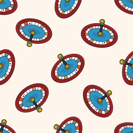 casino roulette , cartoon seamless pattern background Vector