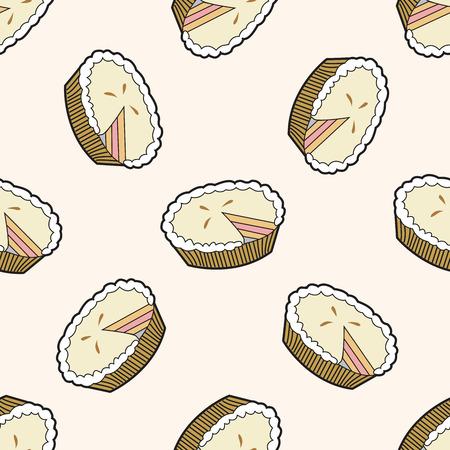 pie , cartoon seamless pattern background Vector