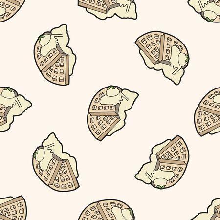 pancake , cartoon seamless pattern background