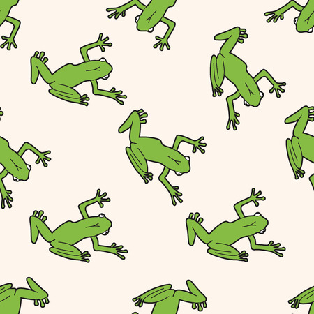 frog: animal frog cartoon , cartoon seamless pattern background
