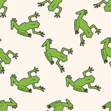 grenouille: animaux de bande dessin�e de grenouille, bande dessin�e seamless fond