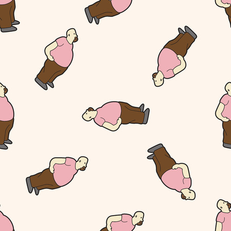 fatty: fatty , cartoon seamless pattern background Illustration