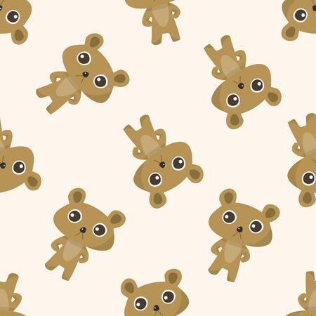 Animales oso de dibujos animados, dibujos animados patrón de fondo sin fisuras Foto de archivo - 39464294