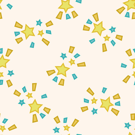 star cartoon: Space star , cartoon seamless pattern background