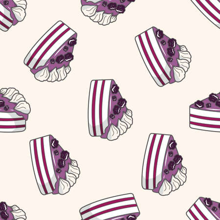 decorating cake icon 10, cartoon seamless pattern background Vector