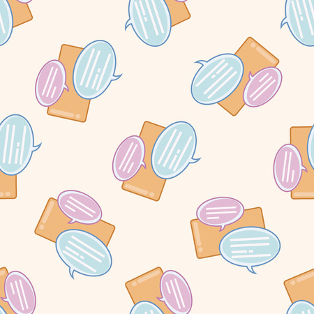 Computer-related desktop icon , cartoon seamless pattern background Vector