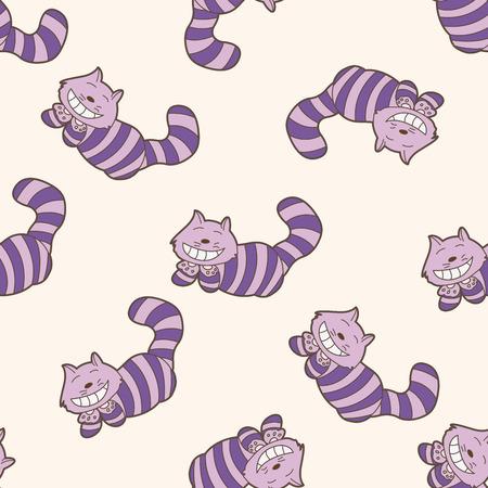 alice in wonderland , cartoon seamless pattern background Illustration