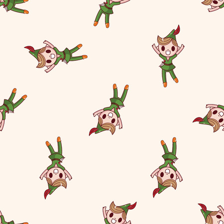 cartoon little red riding hood: Peter Pan , cartoon seamless pattern background Illustration
