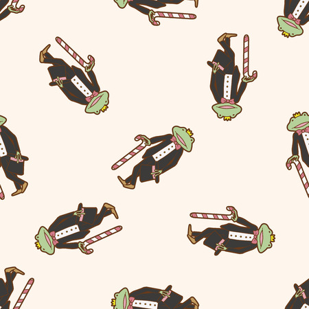 frog prince: Frog Prince , cartoon seamless pattern background Illustration
