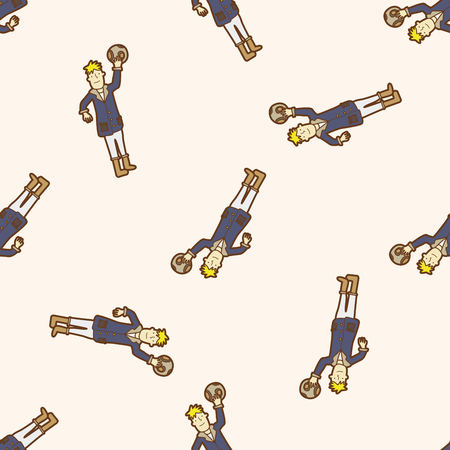 The Little Prince , cartoon seamless pattern background Vector