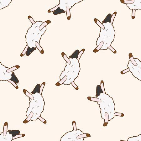 tanzen cartoon: Tier Tanz cartoon, cartoon nahtlose Muster Hintergrund Illustration