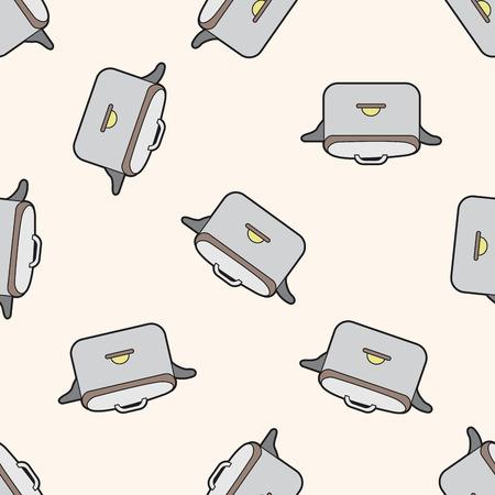 rice cooker: utensilios de cocina cocina de arroz, de dibujos animados patr�n de fondo sin fisuras