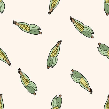elote caricatura: vegetal tema de ma�z, de dibujos animados patr�n de fondo sin fisuras Vectores