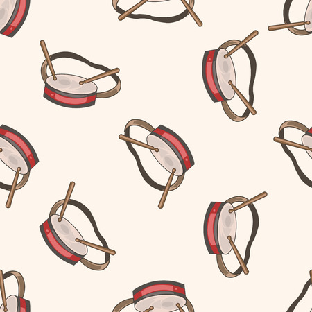 props: circus props , cartoon seamless pattern background