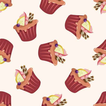 decorating cake 10, cartoon seamless pattern background Vector
