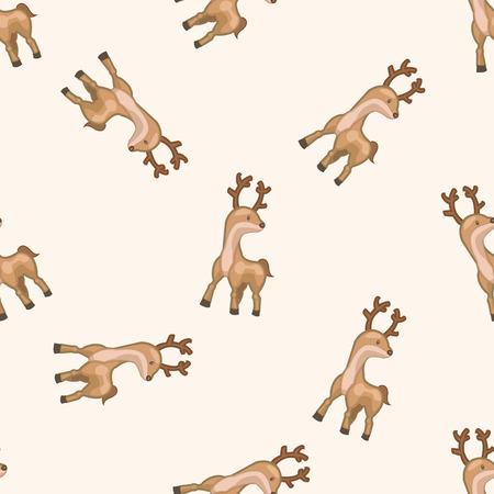 De dibujos animados alces animal, dibujo animado fondo sin patrón Foto de archivo - 39480807