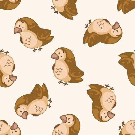 sparrow: animal sparrow cartoon , cartoon seamless pattern background